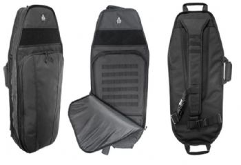 "Leapers UTG 34"" Alpha Carrier Rapid Deployment Pack Black 1200D Polyester PVC-PSP34B"